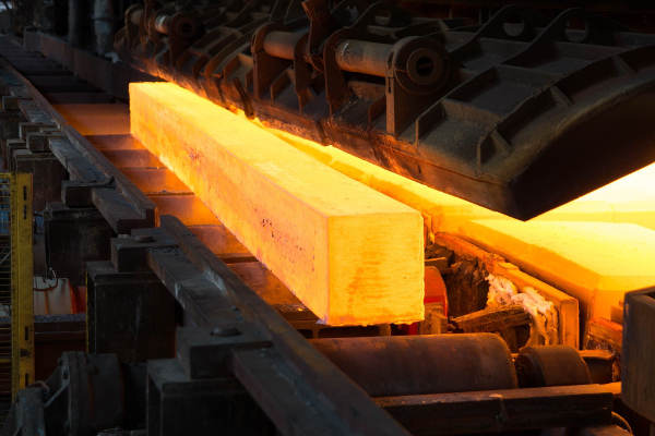 Steel production process